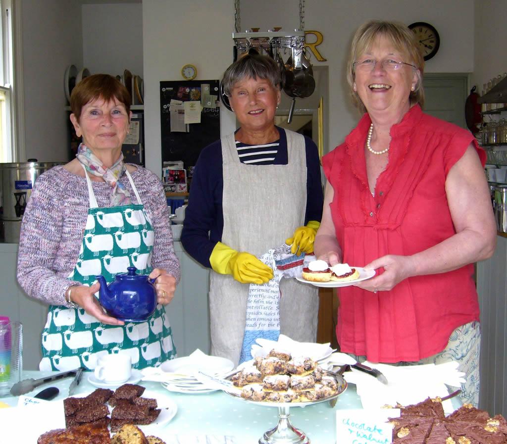 Tea and cake at the Hidden Gardens of Bury St Edmunds