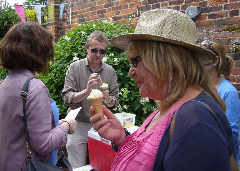 Ice Creams at the Hidden Gardens of Bury St Edmunds