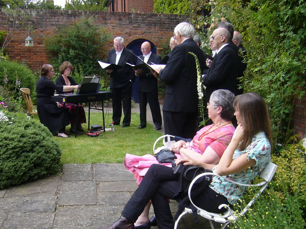 Music in one of the Hidden Gardens of Bury St Edmunds